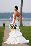 Wedding photograph of a stunning bride at The Waterfront in Hamilton
