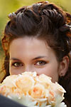 Wedding photograph of a beautiful bride with smiling eyes at the Scottish Rite Club in Hamilton